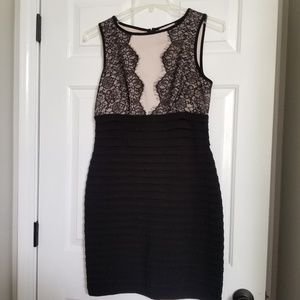 ♻️ Cb cocktail dress black with lace detail